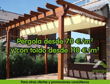 Pergomadera ofertas promociones casetas de madera for Casetas de jardin baratas madrid