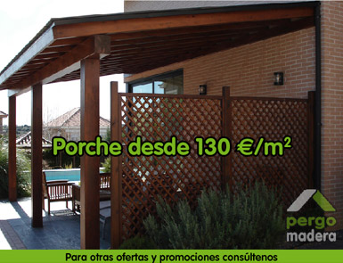 Pergomadera ofertas promociones casetas de madera - Casetas de madera para terraza ...